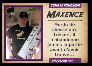 Maxence, chasseur de trésor TEAM LE FOUILLEUR