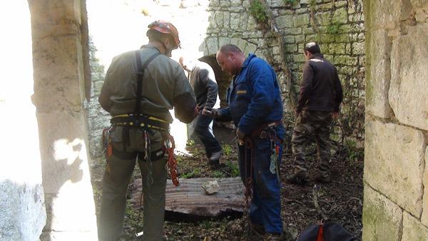 Exploration douve chateau