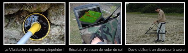 Radar de sol pour la recherche d'or